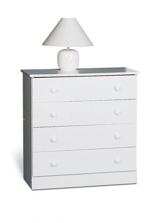 White 4 Drawer Chest