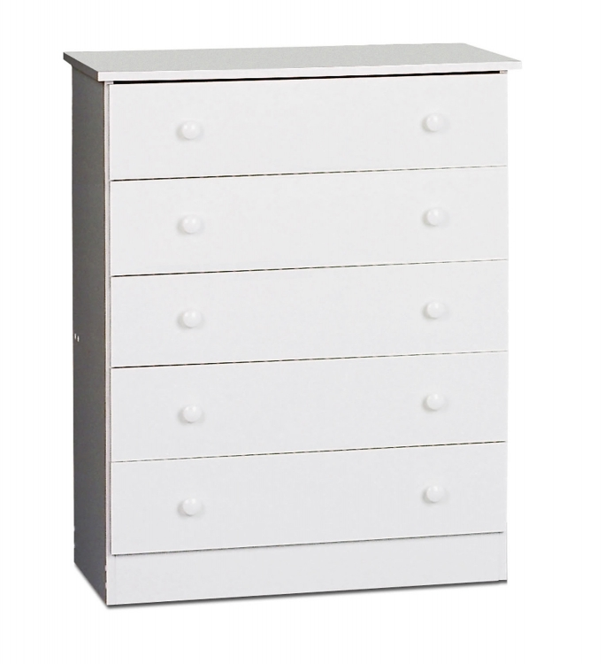 White Edenvale 4 Drawer Chest - Prepac