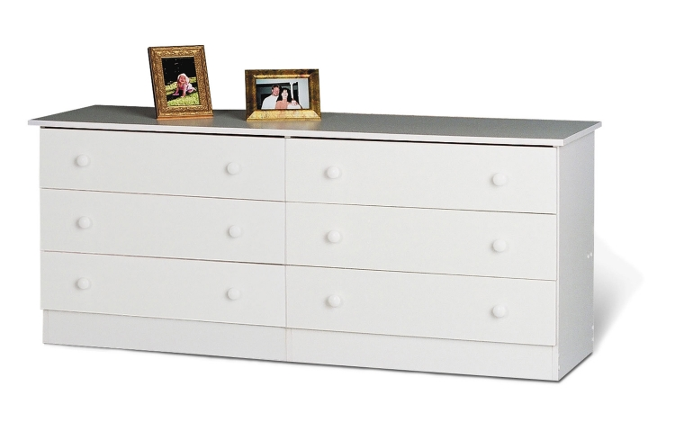 Edenvale 6 Drawer Dresser - White