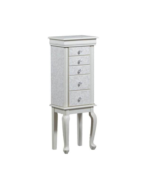Clarice Jewelry Armoire - White