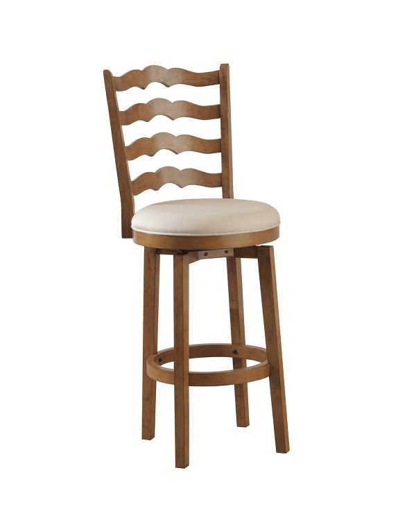 Big and Tall Ladderback Barstool - Chestnut