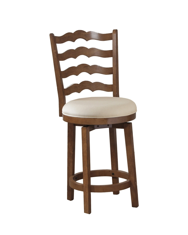 Big and Tall Ladderback Counter Stool - Chestnut