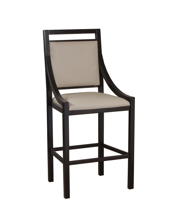 Big and Tall Contemporary Barstool - Chocolate
