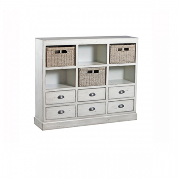 Currituck Cream Console - White
