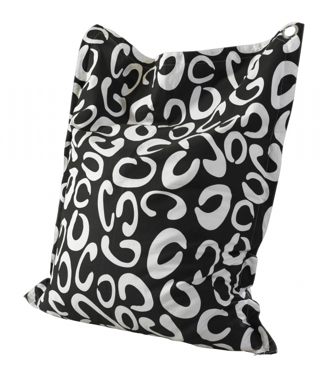Contemporary Curves Anywhere Lounger - Black and White - Powell