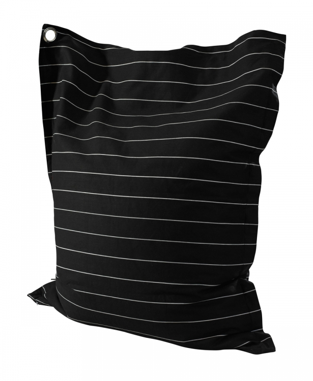 Wide Pin Stripe Anywhere Lounger - Black and White - Powell