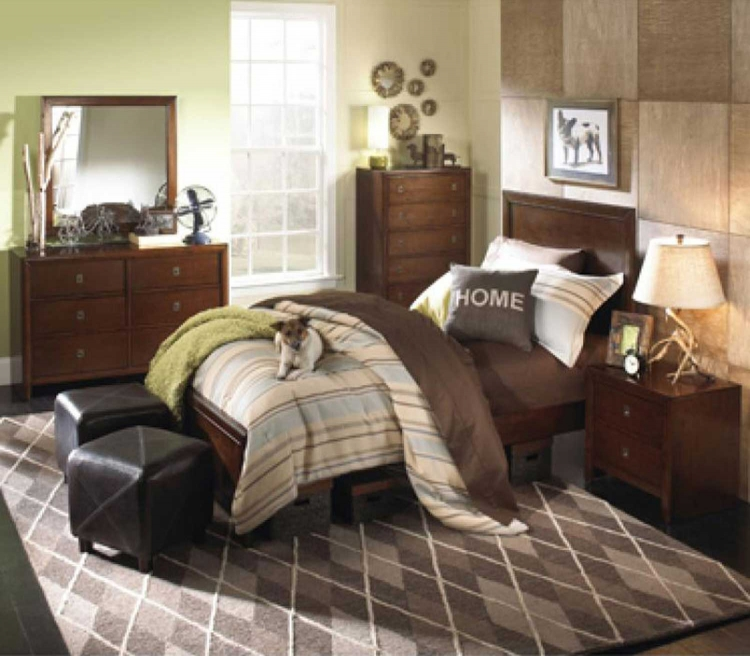 New Albany Panel Bedroom Set - Antique Walnut - Powell