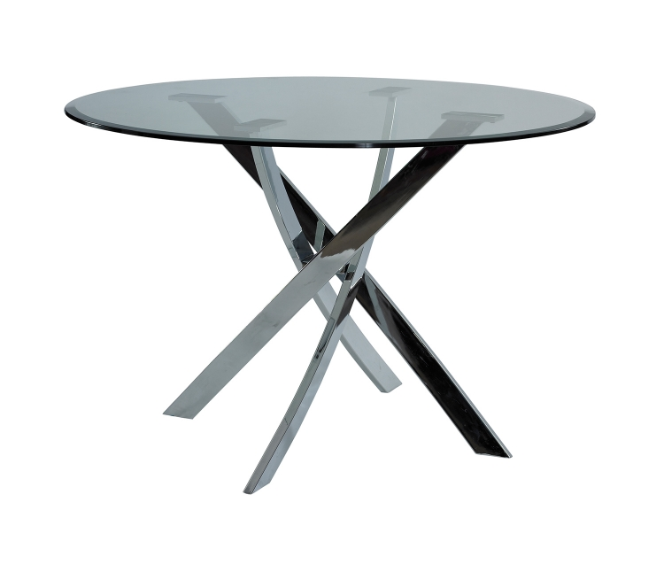 Putnam Dining Table - Cool Chrome