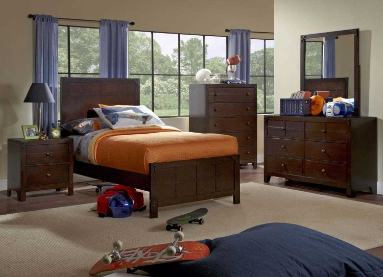 Summerfield Bedroom Set - Dark Walnut - Powell