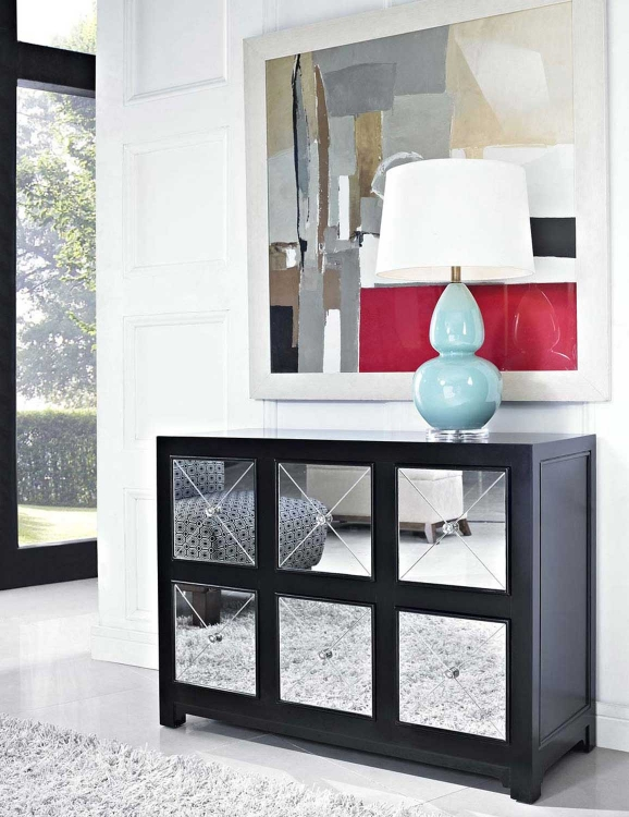 Mirrored 1 Drawer 2 Door Console - Powell