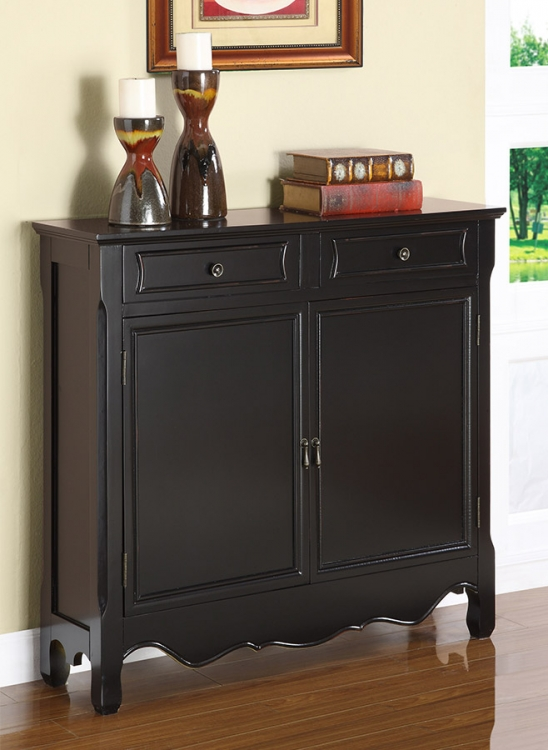 Black 2-Door Console - Powell