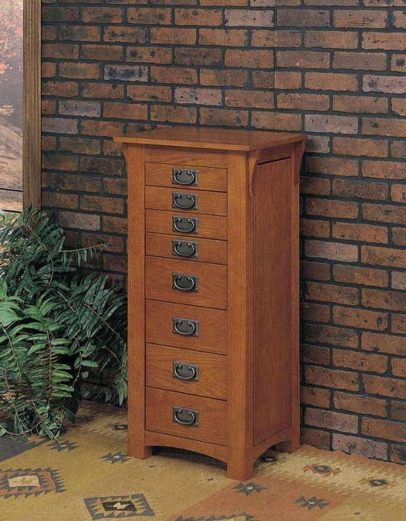 Mission Oak Jewelry Armoire - Powell