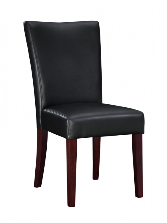 Black Bonded Leather Parsons Chair - Powell