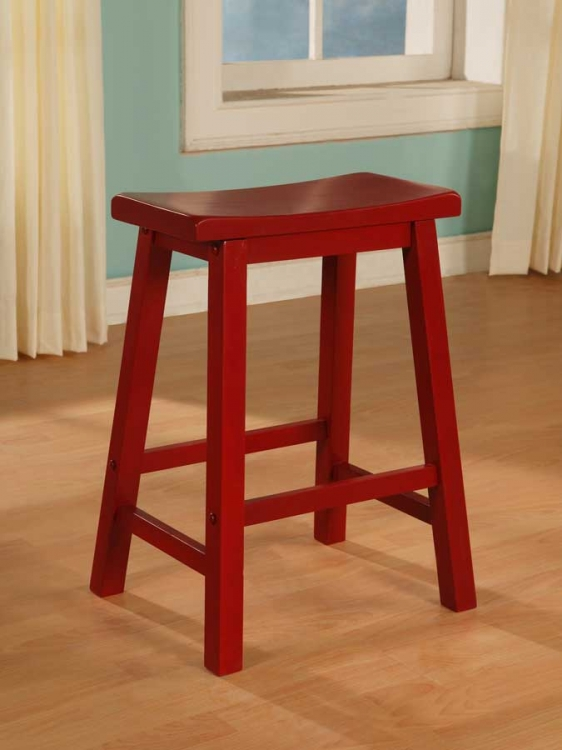 Color Story Crimson Red Counter Stool - Powell