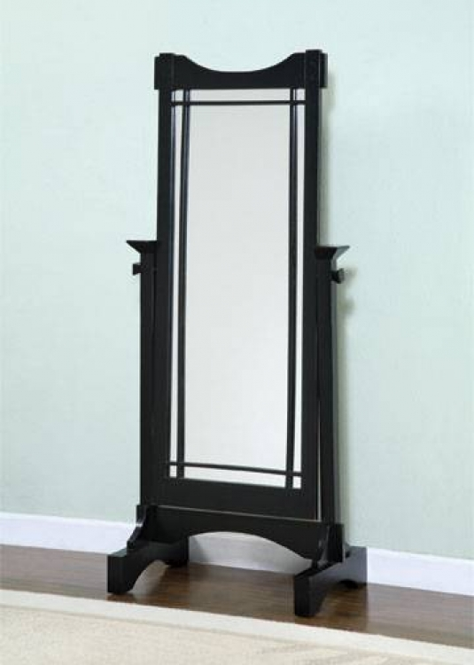 Mission Black Cheval Mirror - Powell
