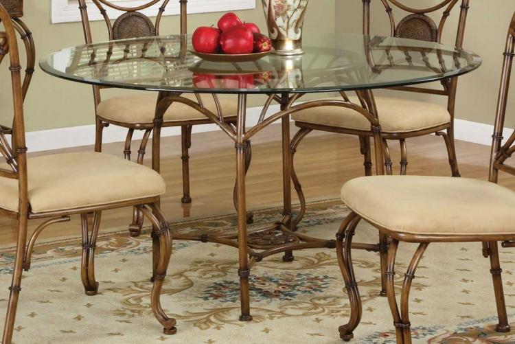 Mango Mangana Brown Bark Pedestal Dining Table