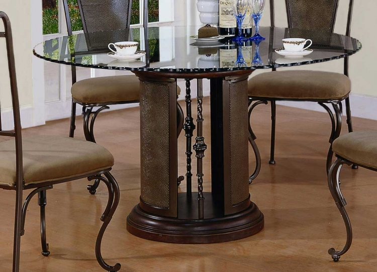 Chevy Chase Dark Bronze Pedestal Dining Table