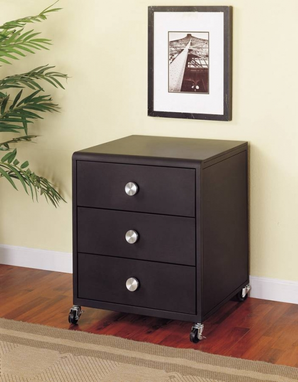 Z-Bedroom Mobile 3-Drawer Chest - Powell