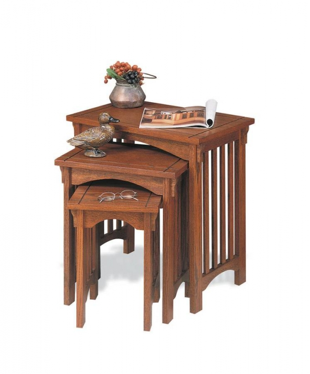 Mission Oak 3-Piece Nested Tables - Powell