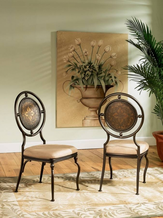 Basil Antique Brown Dining Side Chair