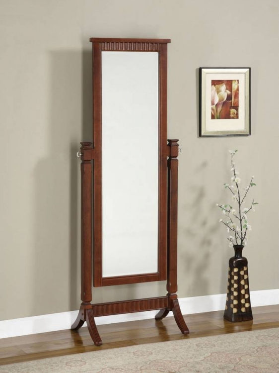 Contemporary Merlot Cheval Mirror - Powell