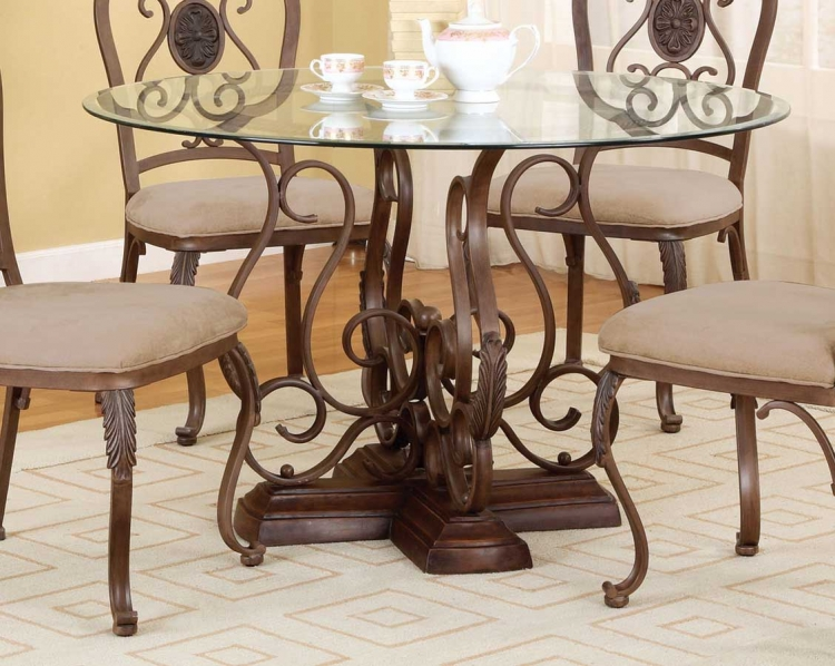 Bloomfield Hand Mottled Antique Bronze Pedestal Dining Table