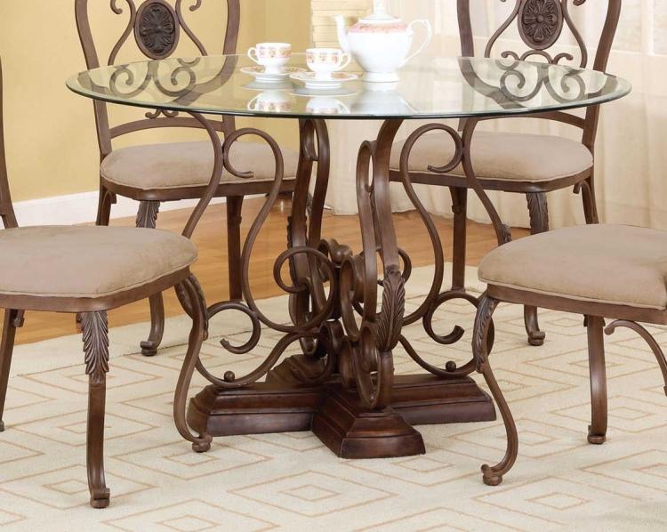 Bloomfield Hand Mottled Antique Bronze Pedestal Dining Table