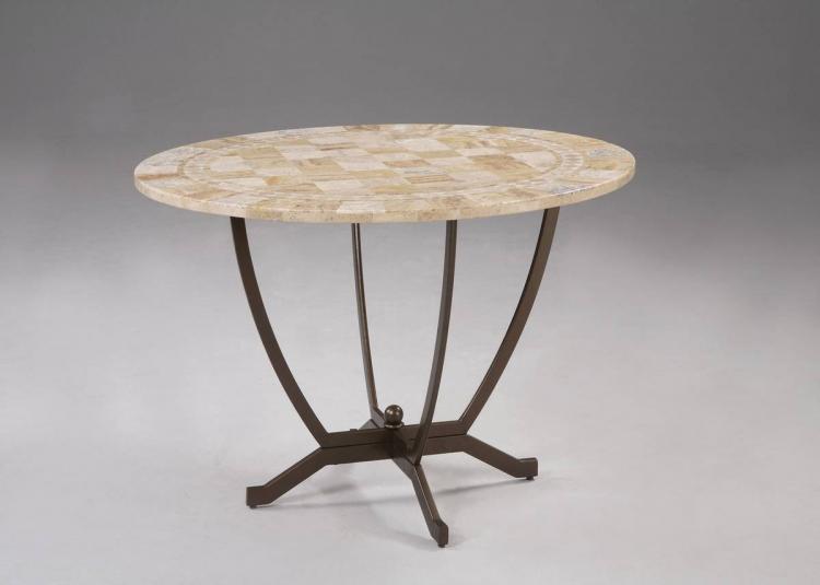 Malibu Satin Medium Bronze Dining Table