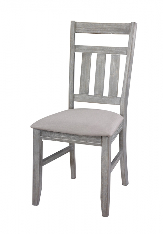 Turino Dining Side Chair - 18 Inch Seat Height - Grey Oak - Powell