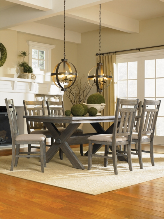 7-Piece Turino Dining Set - Grey Oak