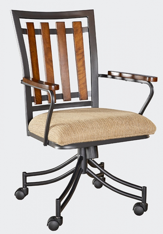 Destin Castered Dining Arm Chair