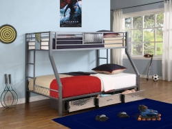 Monster Bedroom Twin-Full Bunk Bed - Powell