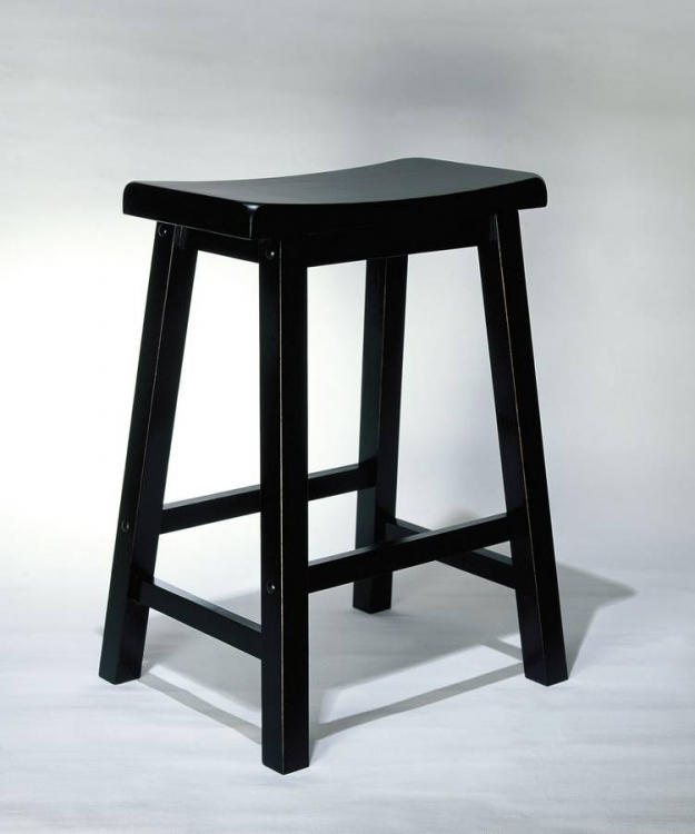 Antique Black with Sand Through Terra Cotta Counter Stool