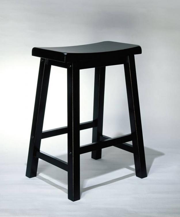 Antique Black with Sand Through Terra Cotta Counter Stool
