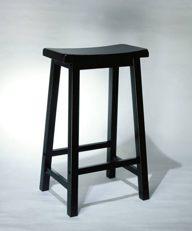 Antique Black with Sand Through Terra Cotta Bar Pub Stool - Powell