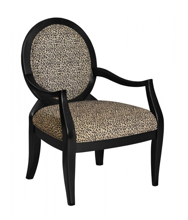 Leopard Oval Back Accent Chair