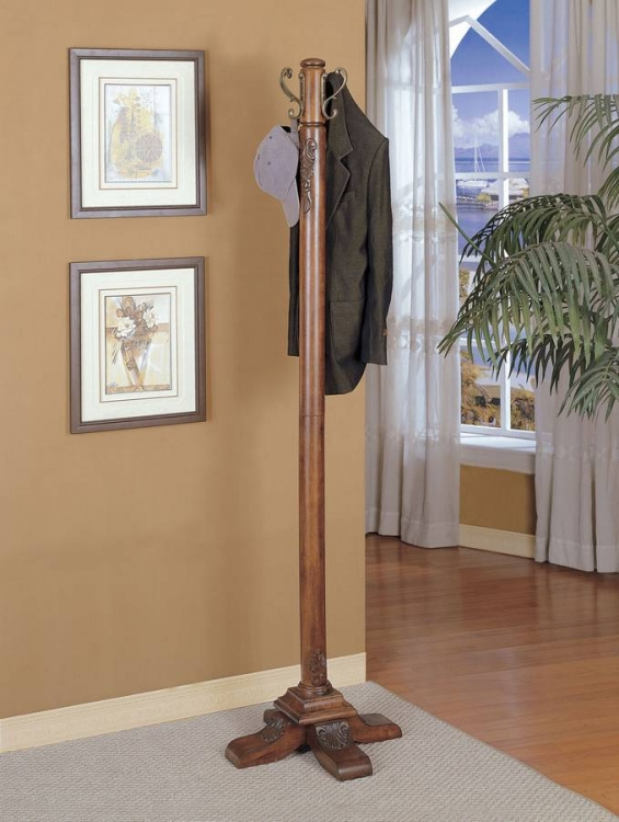Woodbury Mahogany Coat Rack - Powell