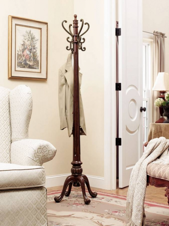 Barrier Reef Warm Nut Brown Coat Rack - Powell