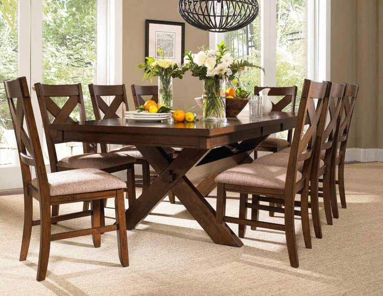 Kraven Dining Set - Dark Hazelnut - Powell