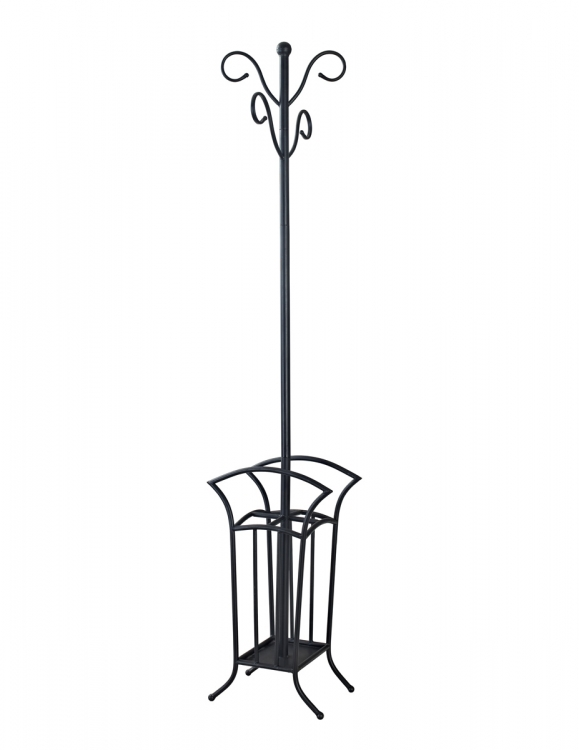 Scroll Coat Rack - Matte Black - Powell