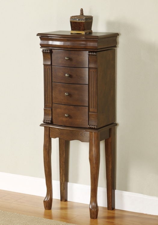 Louis Philippe Walnut Jewelry Armoire - Powell