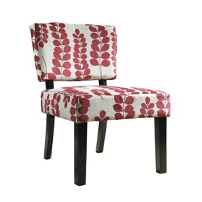 Red and Cream Floral Oliver Accent Chair - Powell