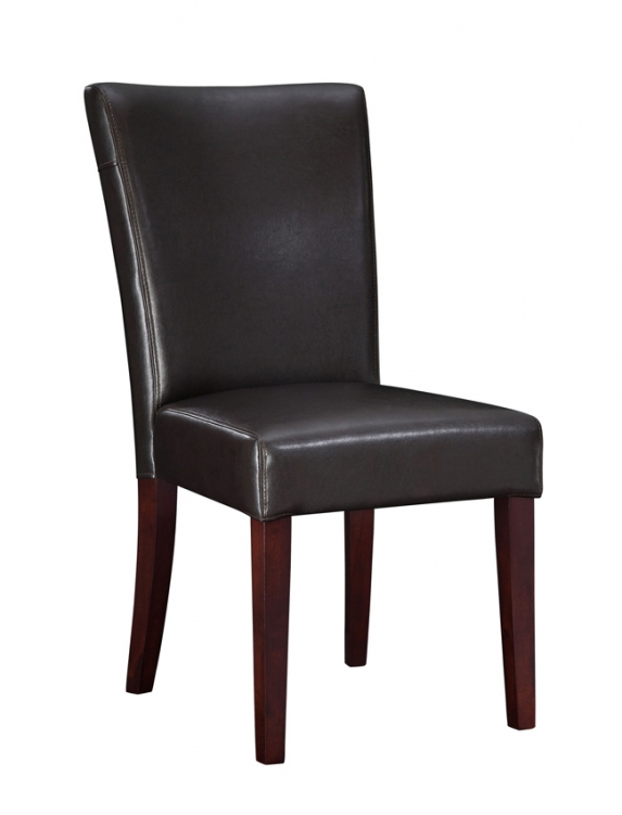 Brown Bonded Leather Parsons Chair - Powell