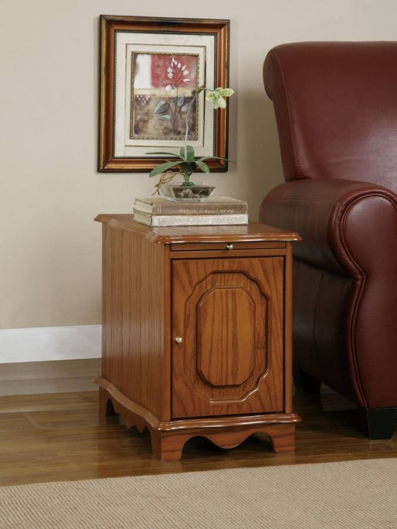 Nostalgic Oak Magazine Cabinet Table - Powell