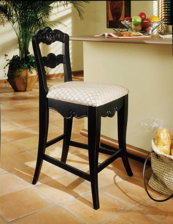 Hills Of Provence Antique Black over Terra Cotta Counter Stool - Powell