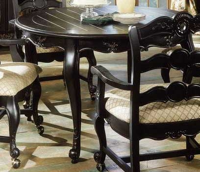 Hills Of Provence Antique Black over Terra Cotta Arm Chair with Casters