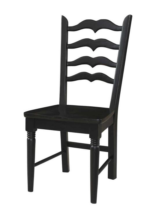 Seville Side Chair - Brown/Black