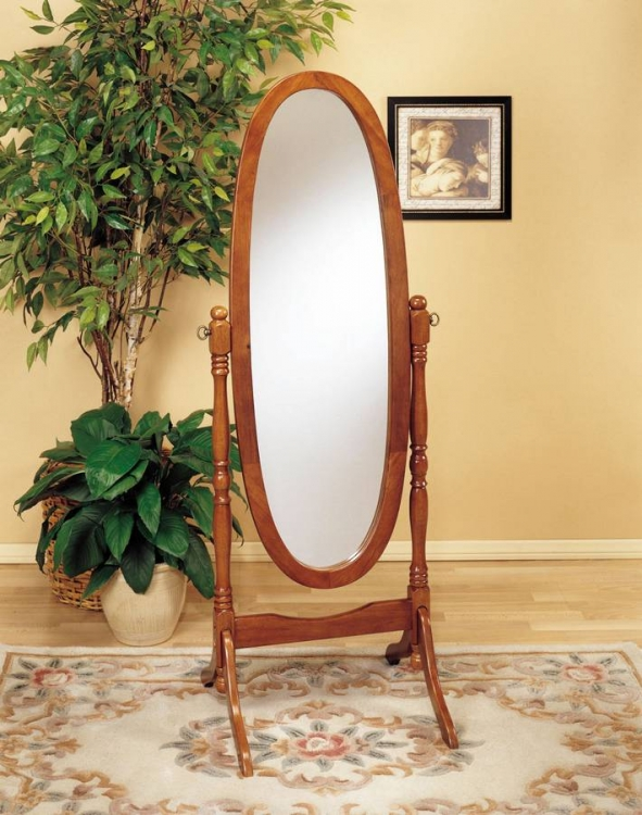 Nostalgic Oak Cheval Mirror - Powell
