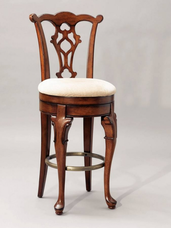 Jamestown Landing Swivel Armless Bar Stool