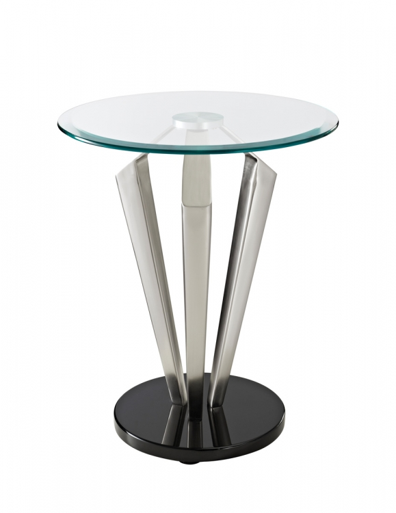 Tripod Metal & Glass Table - Powell